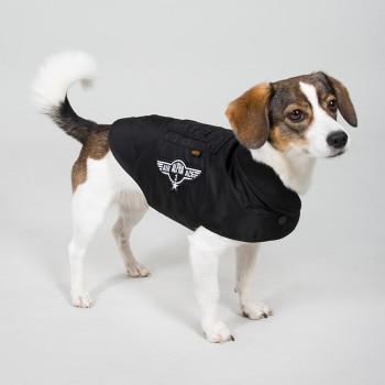 Dog MA-1 Nylon Flight Jacket - black