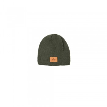 Knit Beanie - dark green