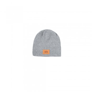 Knit Beanie - grey heather