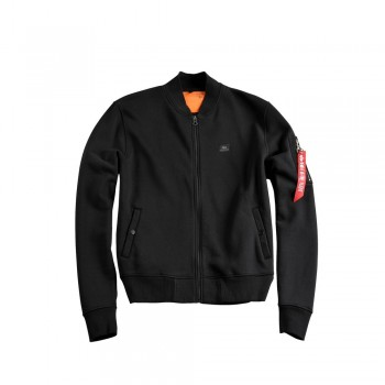 X-Fit Sweat Jacket MA-1 Woman - black