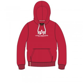 New Basic Hoody Woman - speed red