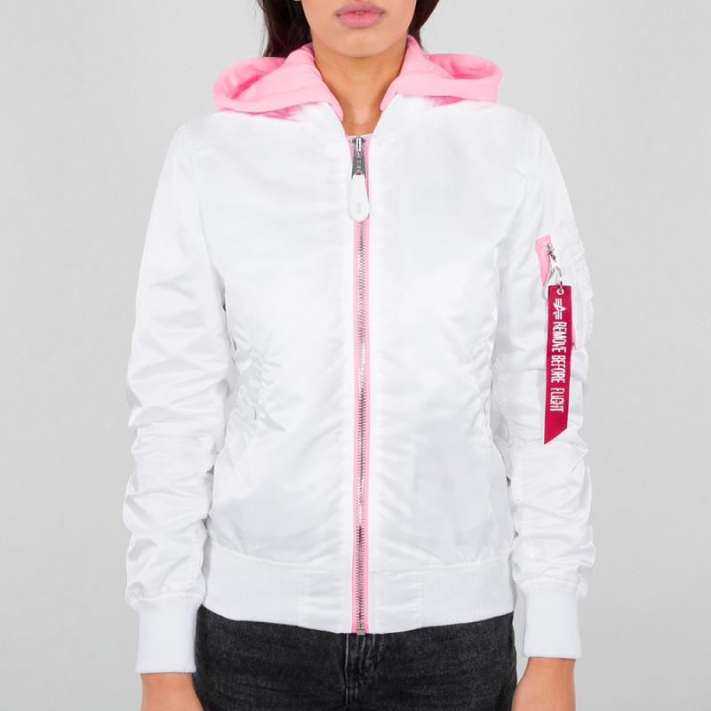 MA-1 Hooded Woman - white