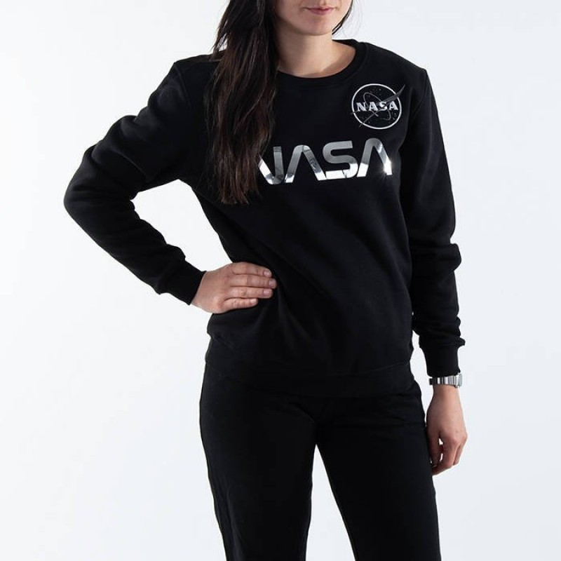 NASA PM Sweater Woman - black/chrome