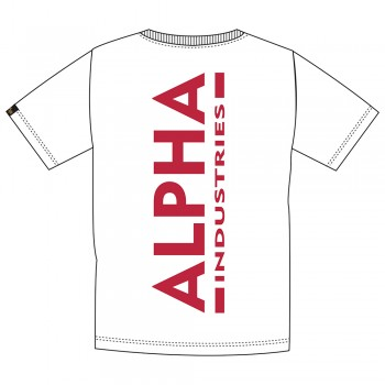 Backprint T - white/red