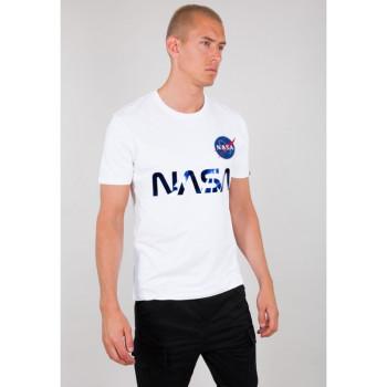 NASA Reflective T - white/blue