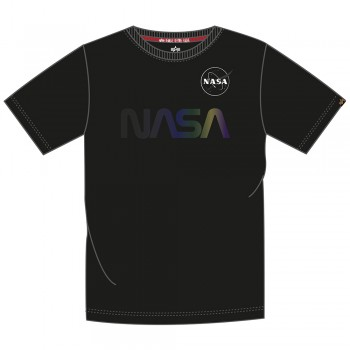 NASA Rainbow Reflective T - black