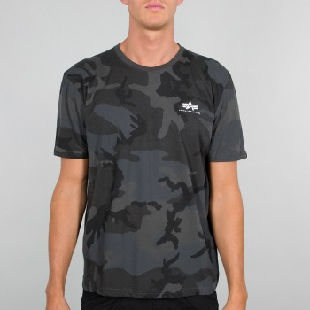 Basic T Small Logo Camo - black camo