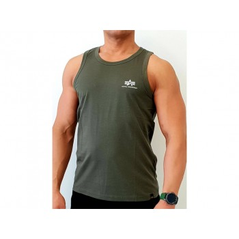 Small Logo Tank - dark olive