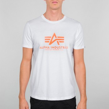 Basic T - white/neon orange