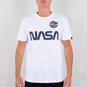 NASA Rainbow Reflective T - white