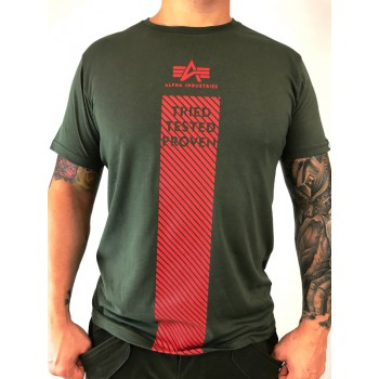 Safety Line T - dark olive
