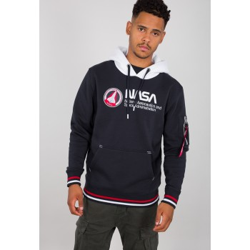 NASA Retro Hoody - replica blue