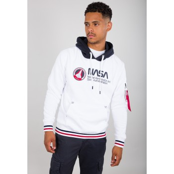 NASA Retro Hoody - white