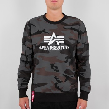 Basic Sweater Camo - black camo