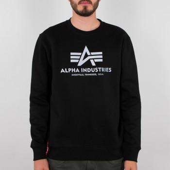 Basic Sweater Reflective Print - black