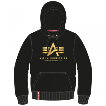 Basic Hoody - black/yellow gold
