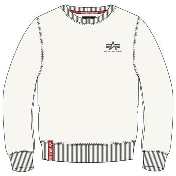 Basic Sweater Small Logo - jet stream white