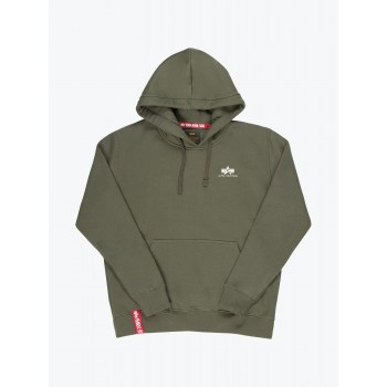 Basic Hoody Small Logo - dark olive
