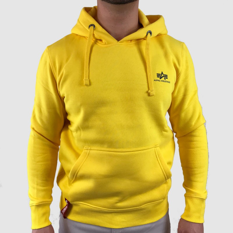 Basic Hoody Small Logo - empire yellow