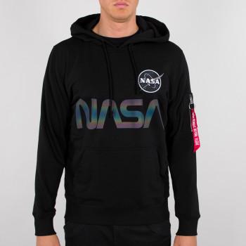 NASA Rainbow Reflective Hoody - black
