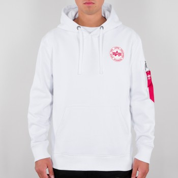 RBF Back Stripe Hoody - white