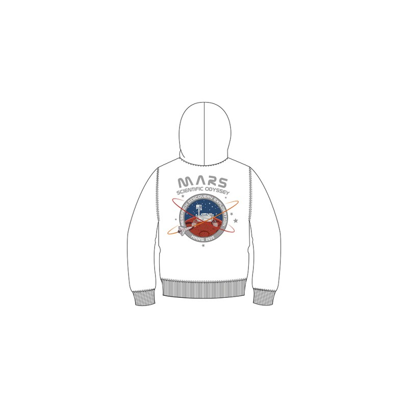 Mission To Mars Hoody Kids - white