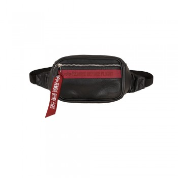 RBF Leather Waist Bag - black/red