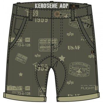 KEROSENE All Over Short - dark olive