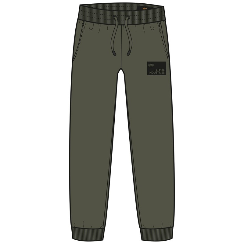 Rubber Patch Jogger - dark olive