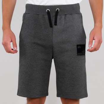 Rubber Patch Short - charcoal heather