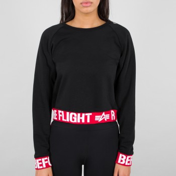 Rbf Cropped Sweater Woman - black