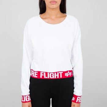 Rbf Cropped Sweater Woman - white
