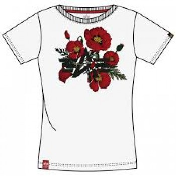 Flower Logo T Woman - white