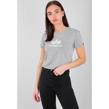New Basic T Woman - greyheather/white