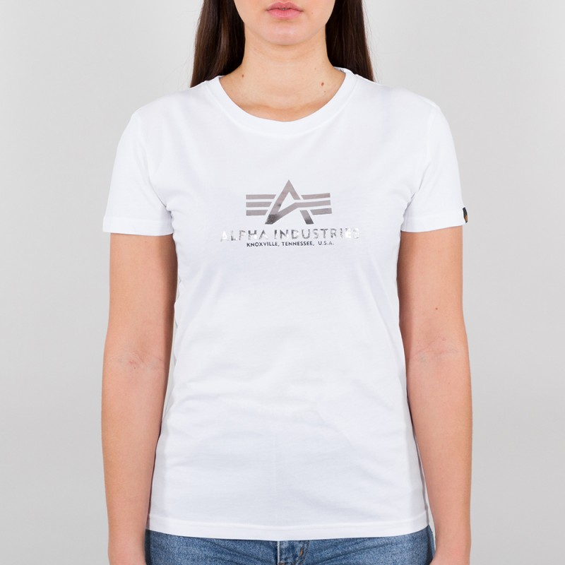 New Basic T Woman - white/metalsilver
