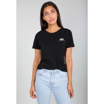 Basic T Small Logo Woman - black