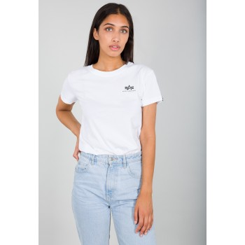 Basic T Small Logo Woman - white