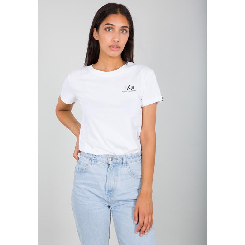 Basic T Small Logo Woman - white