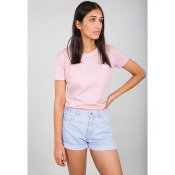 Basic T Small Logo Woman - pastel pink