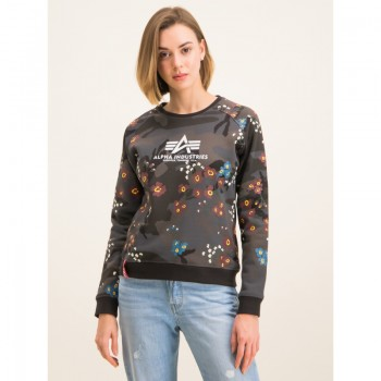Flower Camo Sweater Woman - black camo