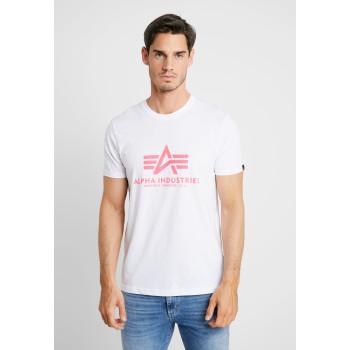 Basic T - white/neon pink