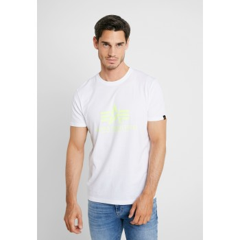Basic T - white/neon yellow