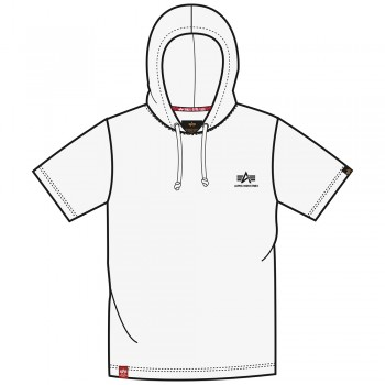 Basic T Small Logo Hooded - white
