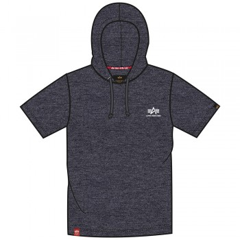 Basic T Small Logo Hooded - charcoal heather