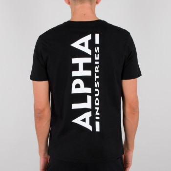 Backprint T - black