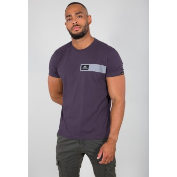 Reflective Stripes T - nightshade