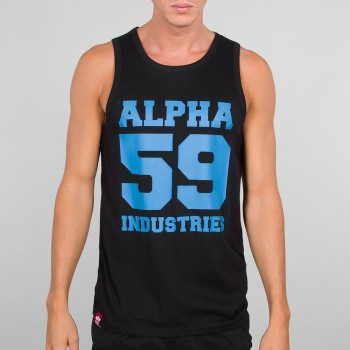 59 Tank - black/neonblue