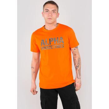Camo Print T - flame orange