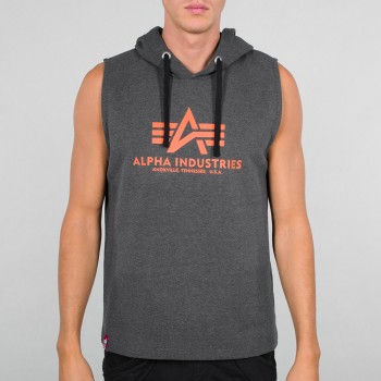 Basic Hooded Tank - charcoal heather
