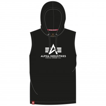 Basic Hooded Tank - black